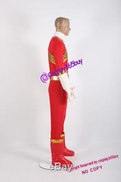 Power Rangers Wild Force Red Wild Force Ranger Cosplay Costume incl. Boots cover