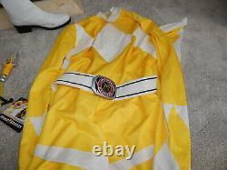 Power Rangers Yellow Adult Cosplay Boots Sexy Morphin Halloween Costume 67364