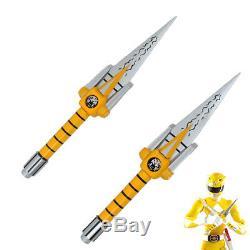 Power Rangers Yellow Ranger Boy Sword Cosplay Prop 2PCS