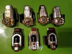 Power Rangers ZEO Zeonizer Morpher Red Crystal Bandai 1996 Lot Of 7 Set Cosplay