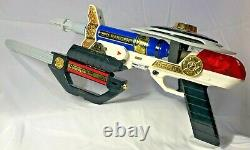 Power Rangers Zeo 7 In 1 Blaster Weapon Set 1996 Bandai Cosplay Incomplete