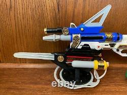 Power Rangers Zeo 7 In 1 Blaster Weapon Set Complete 1996 Bandai Cosplay MMPR