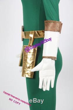 Power Rangers Zeo Green Zeo Ranger Cosplay Costume include boots covers