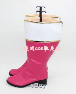 Power Rangers Zyuranger Mei Cosplay Boots Ptera Ranger Boots Shoes