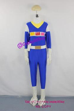 Power Rangers in Space Theodore Jay Jarvis Blue Space Ranger Cosplay costume