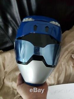 Power rangers beast morphers blue cosplay helmet