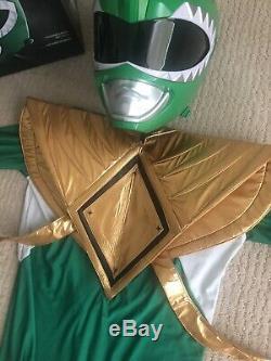 Professional grade Green Power Ranger Adult Costume Cosplay