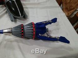 RARE Beetleborgs Blue Stinger Drill Cosplay Vintage Bandai 1996