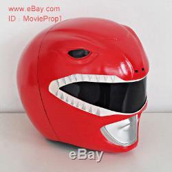 Red Power Ranger Helmet Mighty Morphin Halloween Costume cosplay Movie Prop mask