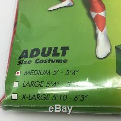 Red Power Rangers Morphsuit Adult Medium Halloween Costume Cosplay Fandom New