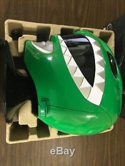 Sabans Power Rangers Bandai Green Ranger Cosplay Helmet 25th Anniversary