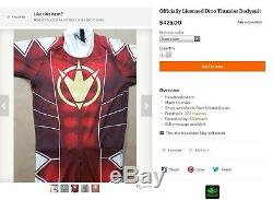 Snakepit Studios Power Rangers Cosplay Costume Red Dino Thunder Ranger Bodysuit