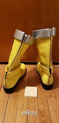 Super Sentai Kajiki Yellow Costume Cosplay! Power Rangers Kyuranger! Uchu Space