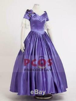 The Young Victoria Film Queen Victoria Cosplay Costume purple Dress