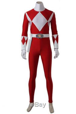 Tyranno Power Rangers Dino Thunder Cosplay Costume Accessory Red Ranger Jumpsuit