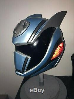 Used SPD Shadow Ranger Cosplay Helmet Handmade Metallic Blue Fiberglass Reinforc