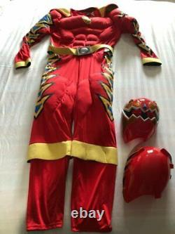 VINTAGE Power Ranger Costumes Adult Red Ranger LARGE 2004 HTF COSPLAY