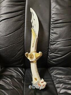 VINTAGE Power Rangers White Ranger Saba Sword Talking Tiger Cosplay Works! FS