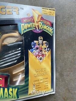 VTG 1995 MMPR Power Rangers White Ranger Costume COSPLAY KIDS SMALL