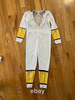 VTG 1995 MMPR Power Rangers White Ranger Costume COSPLAY KIDS SMALL 4-6 READ DES