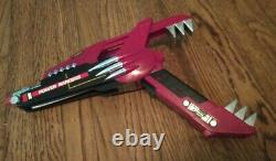 Vintage 1991 Mighty Morphin Power Rangers Red Dragon Gun Sword 1990s cosplay