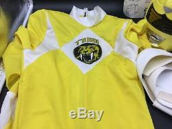 Vintage 1993 Mighty Morphin Power Yellow Trini Ranger Costume. Rare # Nib
