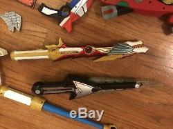 Vintage Power Rangers Cosplay Lot Swords Gloves Zeo Blaster