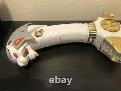 Vintage Power Rangers White Ranger Saba Sword Talking Tiger Cosplay Works MMPR
