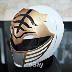 WHITE/GOLD Power Ranger Helmet Headwear Halloween Costume cosplay Movie Prop