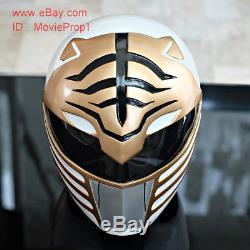 White Power Ranger Helmet Headwear Halloween Costume Cosplay Movie Prop