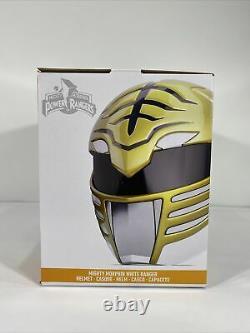 White Power Ranger Helmet Mighty Morphin Cosplay Mask Costume