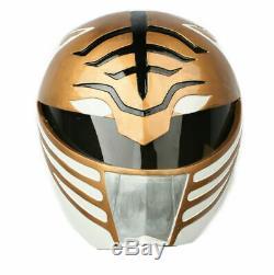 White Power Rangers Helmet Mask Cosplay Costume Prop Replica Halloween Xcoser