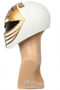 White Ranger Cosplay Helmet Power Rangers Full Head Resin Mask Costume Props