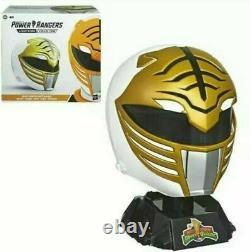 White Ranger WEARABLE HELMET Power Rangers Lightning Collection Cosplay