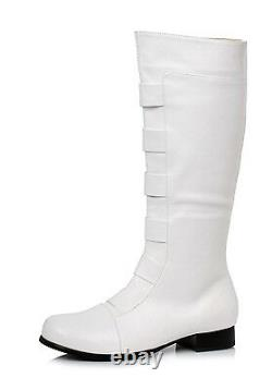 White StormTrooper First Order Cosplay Halloween Costume Knee High Boots Mens