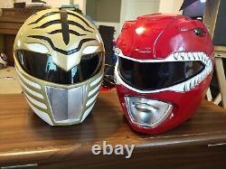 White ranger And red ranger power ranger helmet cosplay