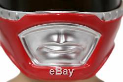 XCOSER Power Rangers Helmet Red Rangers Mask Mighty Cosplay Costume Replica Gift