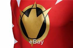 ZYURANGER Red Ranger Cosplay Jumpsuit Power Rangers Halloween Outfits Full Set