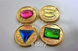Zeo Ranger Power Master Coins-Gold, Set of 4, for Legacy Morpher, Cosplay, Prop