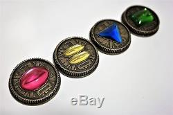 Zeo Ranger Power Master Coins-Weathered, Set of 4, for Legacy Morpher, Cosplay